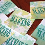 DIY: Watercolored Business Cards