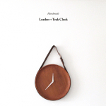 DIY Leather + Teak Clock