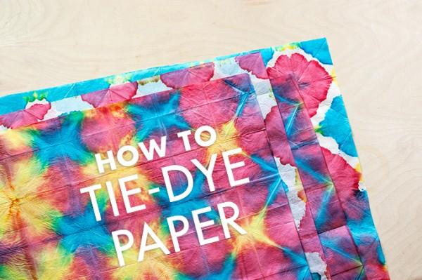 diy tie dye tissue paper indie crafts. Black Bedroom Furniture Sets. Home Design Ideas