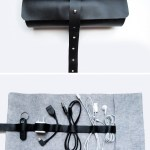 DIY Leather Cord Organizer