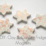 DIY Clay and Copper Fridge Magnets