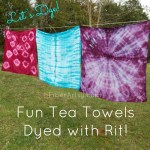 Fun Tea Towels Dyed with Rit!