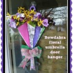 DIY Floral Umbrella Door Hanger