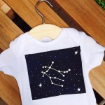 DIY zodiac constellation onesie