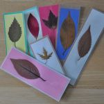 DIY Pressed Leaf Bookmarks