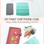 DIY Paint Chip Phone Case