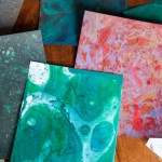 DIY Marbled Paper with Oil Paints
