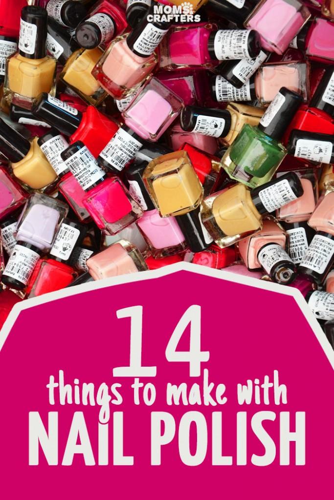14 nail polish crafts indie crafts for Crafts using nail polish