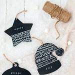 DIY Mud Cloth Ornaments