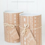 DIY Mailing Tube Gift Wrapping