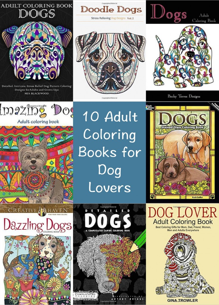 10 dog themed coloring books for adults indie crafts for Dog crafts for adults