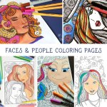 "5 Free ""Faces"" Coloring Pages for Adults"