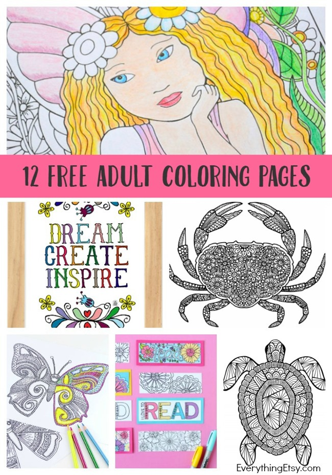 12 Free Printable Adult Coloring Pages For Summer Indie