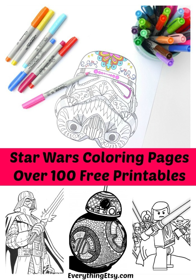 100 Free Printable Star Wars Coloring Pages for Adults