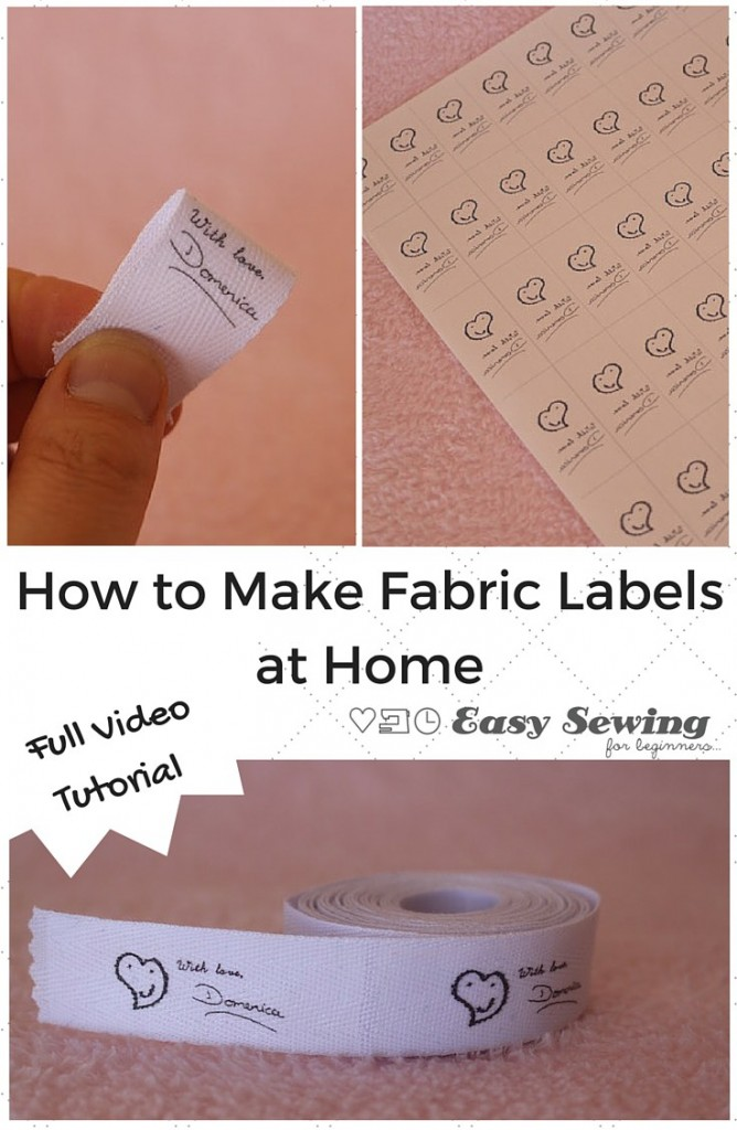 How to make fabric labels at home indie crafts for Create fabric labels