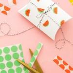 DIY Watermelon Stickers FromOffice Label