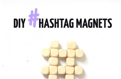 DIY Hashtag Magnets
