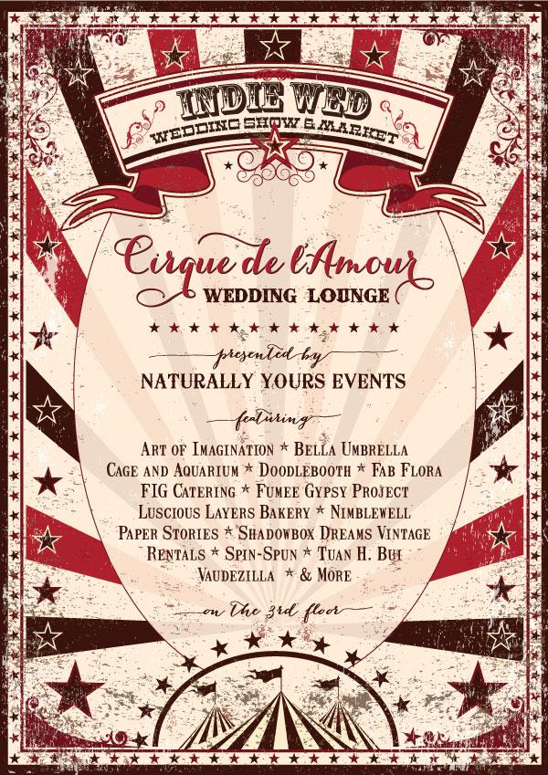 Cirque de l'Amour Wedding Lounge at Indie Wed Wedding Show & Market