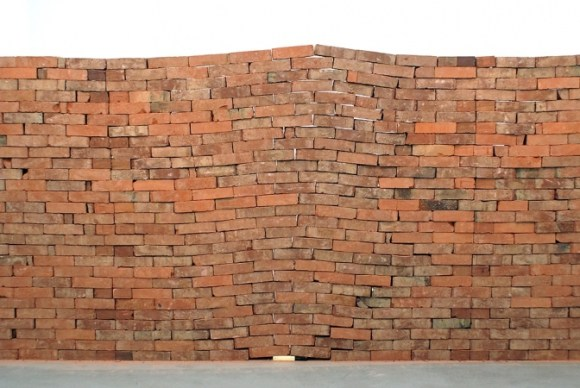 Jorge Mendez Blake, The Castle (2007) bricks, book. Courtesy Travesia Cuatro