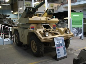 Ferret versi terakhir, MK5 dengan kemampuan menggotong 4 rudal anti tank Swingfire