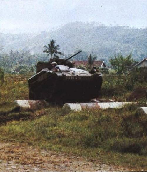 Wiesel saat uji coba di Indonesia.