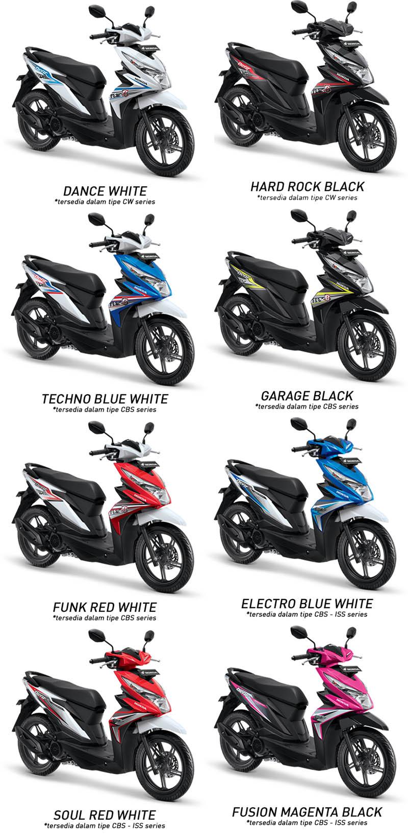 Honda Beat Sporty Cbs Iss Electro Blue White Spec Dan Daftar Harga New Vario 110 Esp Grande Yogyakarta Pilihan Warna Terbaru 2018