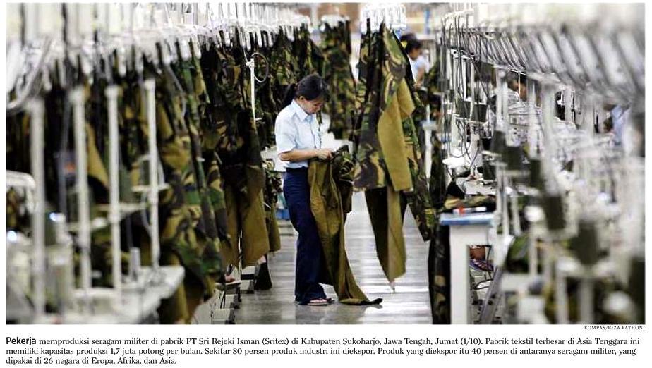 PT Sritex: Memproduksi Seragam Militer Standar NATO yang Dipakai di 25 Negara (1/3)