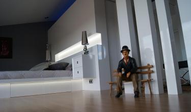Dormitorio a medida lacado