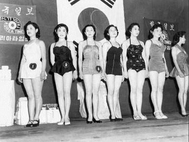 在整容興起之前的韓國選美大賽,原來天然的韓國美女長這樣