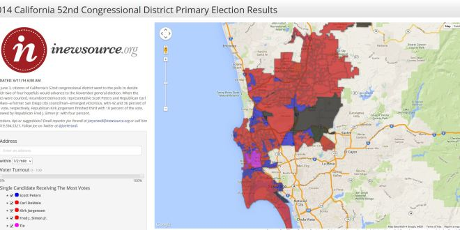 2014 California 52nd Congressional District Primary Election Results