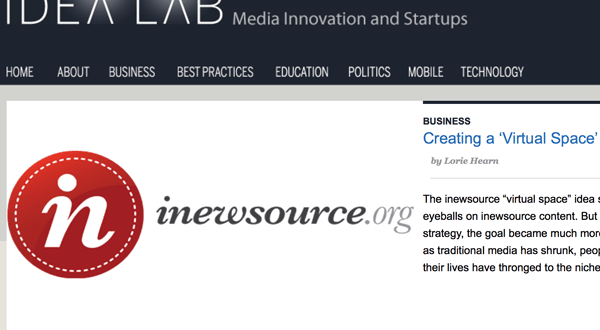 Creating a 'Virtual Space' for Community News
