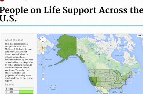 People on Life Support Across the U.S.