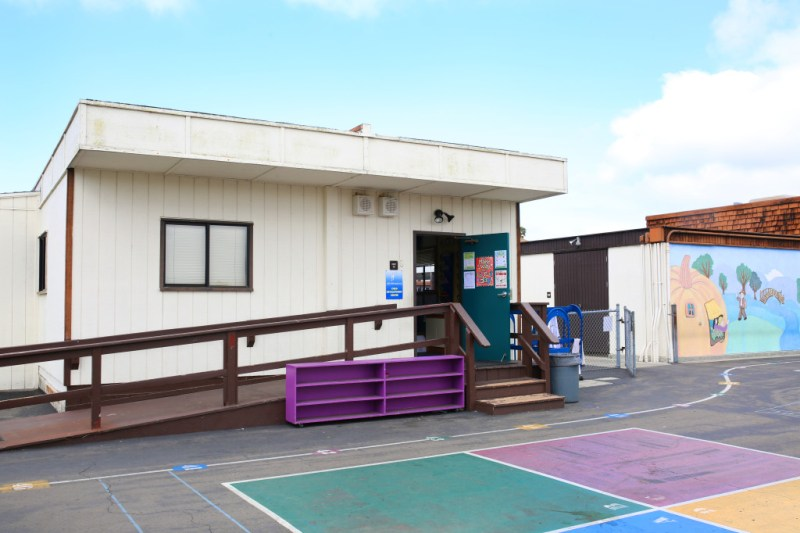 A portable classroom faces the playground in Solana Vista Elementary in the Solana Beach School District. Two out of three classrooms at the school are portable. April 12, 2016. Megan Wood, inewsource