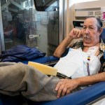Kidney patient Steve Brown has been on dialysis at UCSD for nine years. March 14, 2017. Megan Wood, inewsource.
