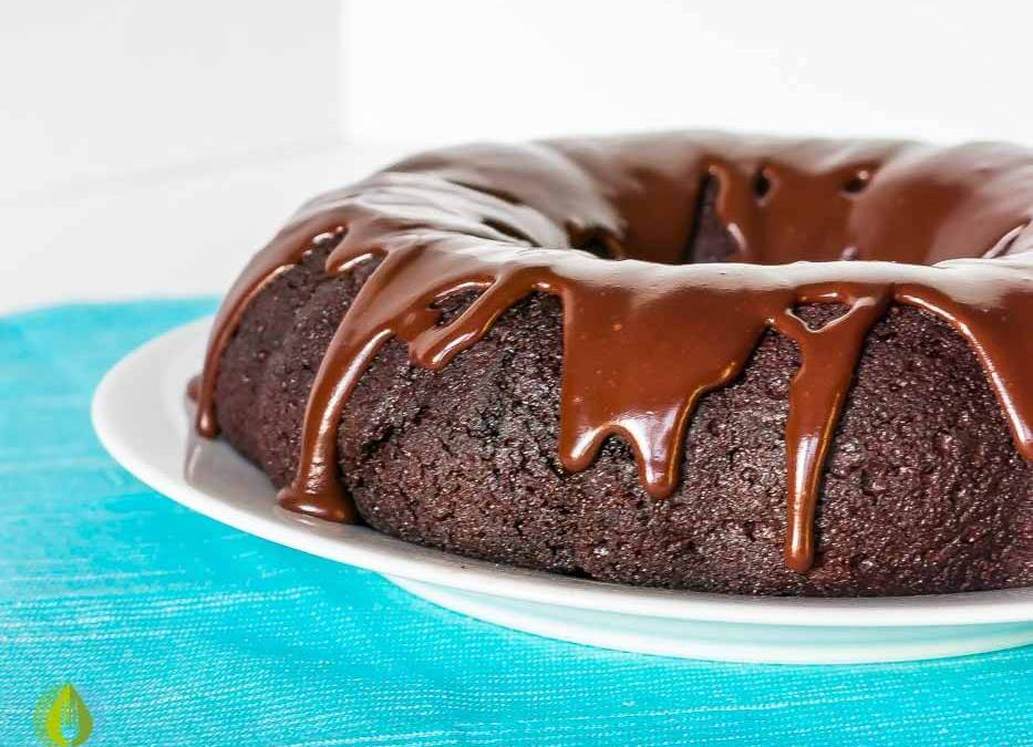Double Chocolate Glazed Donut Cake