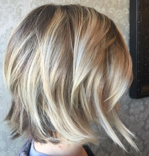 Angled Bob Haircut In Particular 2017 Subtle Dirty Blonde Angled Bob