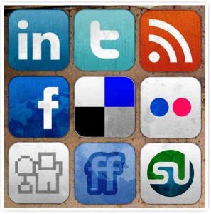social media icons Facebook LinkedIn Twitter