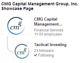 CMG Capital Management Group LinkedIn SHowcase Page on Tactical Investing