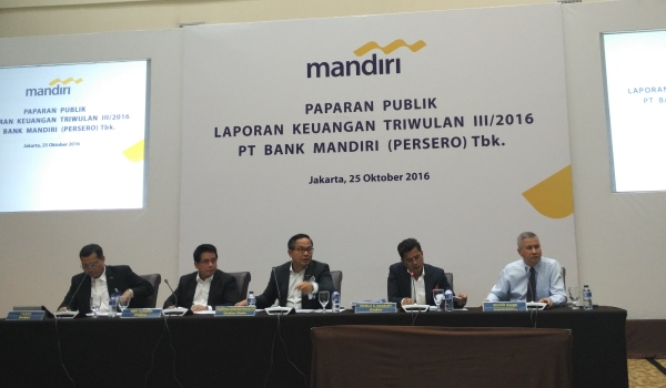 Bank Mandiri Bikin Laba Rp12 Triliun pada Kuartal III-2016