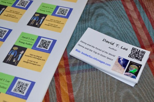 Name cards and QR code (David T. Lee)