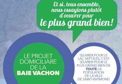 Baie Vachon : le Comité citoyen distribue un document de sensibilisation