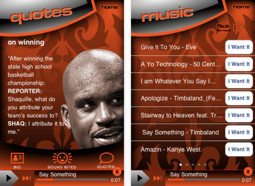 shaq app screen Shaq Has His Own App