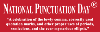 punctuation 350x112 National Punctuation Day