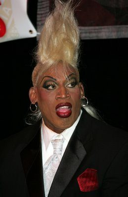 dennis rodman is strange Proof of Extraterrestrial Life? Dennis Rodman and His 2011 Hall of Fame Spectacle.