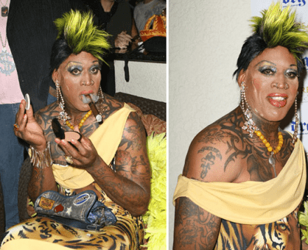 zdennis rodmania Proof of Extraterrestrial Life? Dennis Rodman and His 2011 Hall of Fame Spectacle.