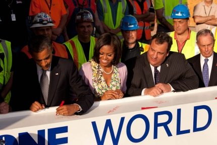 Beam Signed By President Obama Installed at World Trade Center
