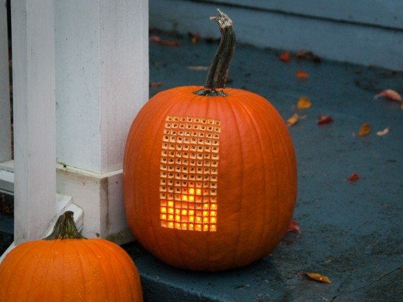Pumpktris: Play Tetris on a Pumpkin