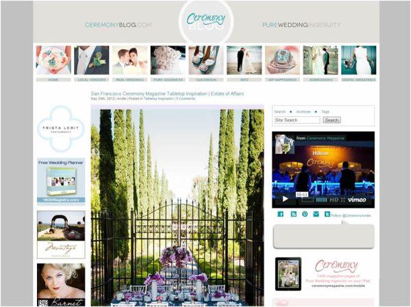 Ceremony blog, tabletop inspiration