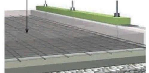 Colocación de plataformas de concreto