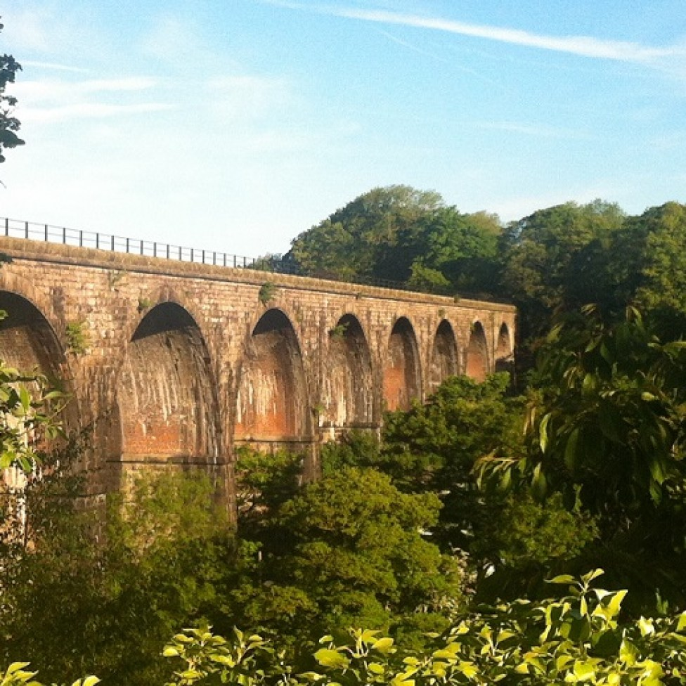 Viaduct close by cottage